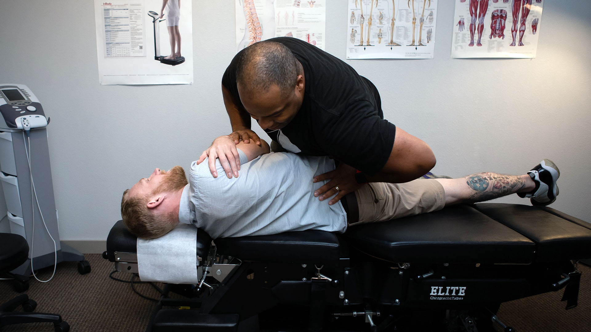 Dr. Young with patient