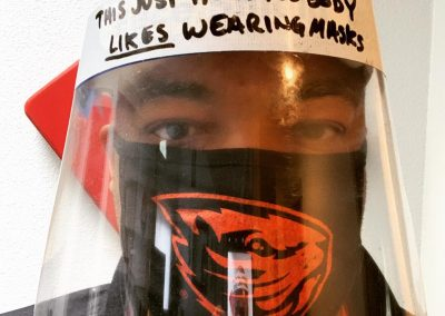 Face shield: This just in, nobody likes wearing masks.
