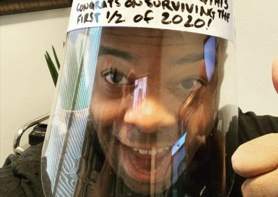 Face shield: If you are reading this, congrats on surviving the first half of 2020.