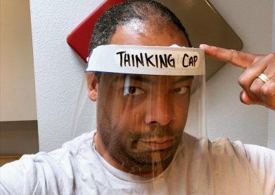 Face shield: Thinking cap